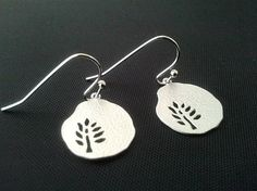 Lovely Small Tree with Hammered Pear Earrings Drop by LaLaCrystal,