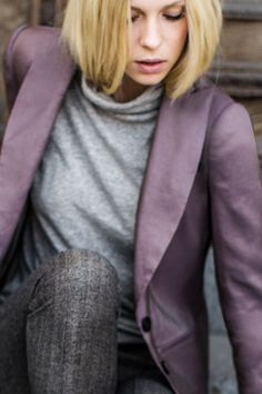 Love this color - Wingtip Jacket - Aubergine Bengaline | Emerson Fry