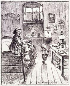 """Exponat: Grafik: Heinrich Zille, """"Das eiserne Kreuz"""", 1916"""