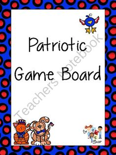 FREE! Patriotic Open-Ended Game Board from The T.L.C. Shop on TeachersNotebook.com -  (3 pages)  - An open-ended board game (with matching dice) that you can use with alone or with any of the card game available in my shop. An excellent reinforcer when working in small groups! :)