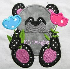 Easter Panda 05 Machine Applique Embroidery Design - 4x4, 5x7 & 6x8