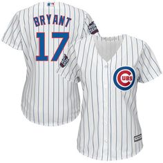 Women's Chicago Cubs Kris Bryant Majestic White 2016 World Series Bound Home Cool Base Player Jersey
