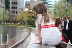 Girl at the Reflection Pool | Temple Square, Salt Lake City