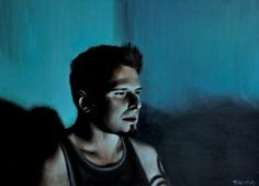 Screen time: Greg by Matthew Hickey in Current Work, Painting using Oil on canvas. Selling Art Online, Oil On Canvas, Original Artwork, Saatchi Art, Drawings, Artist, Prints, Photography, Painting