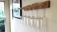 This DIY Wine Glass Rack Saves Space, Is Easy to Build.  @rhess1