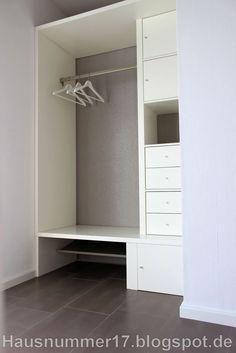 IKEA Hack: Eine Flur Garderobe mir Schubfächern und Ablagen auf Grundlage eines EXPEDIT Regal von Ikea selber bauen