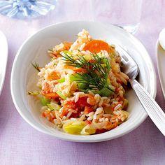 Lauch mit Möhren und Reis Rezept | Küchengötter