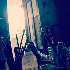 Verano porteño en el #tallerdepintura www.tallerdepintura.tumblr.com #tallerdearte #taller #art #arte #talleresdeartistas #tallerdepinturadelucianogiusti (en Av. Cordoba y Pueyrredón.)