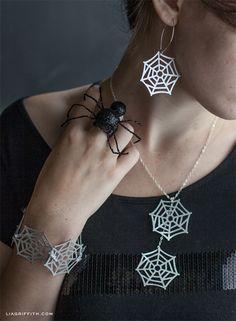 DIY Paper Spider Web Jewelry