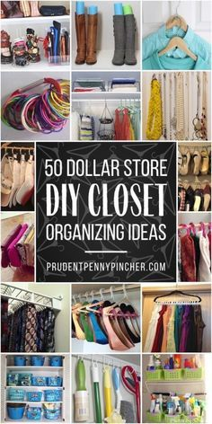 Organize your closet for less with these dollar store closet organization ideas. - Organize your closet for less with these dollar store closet organization ideas. From organizing yo - Closet Organisation, Kids Room Organization, Purse Organization, Organizing Ideas, Closet Storage, Clothing Organization, Clutter Organization, Organising, Household Organization