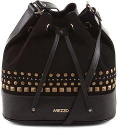 Bolsa Bucket Nobuck Preta | Arezzo Leather Purses, Leather Handbags, Mini Mochila, Hipster, Beautiful Handbags, Leather Bags Handmade, Punk, Womens Purses, Purses And Handbags