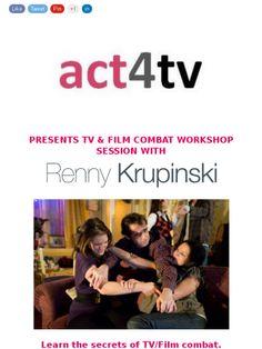 TV/FILM COMBAT WORKSHOP - SAT 25TH APRIL