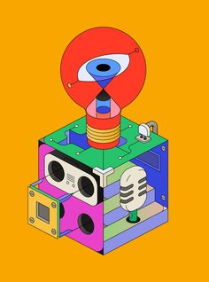 Studio XO — a collection of isometric illustrations that shows the different aspects of the work in a today's design studio. Behance :: Best of Behance Photo Illustration, Graphic Design Illustration, Behance, Grafik Design, Illustrations And Posters, Pop Art, Character Design, Design Inspiration, Studio