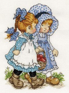 Risultato immagini per holly hobbie cross stitch pattern free Cross Stitch For Kids, Cross Stitch Baby, Cross Stitch Kits, Counted Cross Stitch Patterns, Cross Stitch Charts, Cross Stitch Designs, Cross Stitch Embroidery, Embroidery Patterns, Holly Hobbie