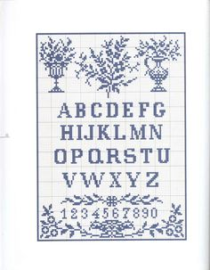 View album on Yandex. Crochet Alphabet, Cross Stitch Alphabet, Cross Stitch Samplers, Cross Stitching, Alphabet Blocks, Alphabet And Numbers, Diy Embroidery, Cross Stitch Embroidery, Cross Stitch Designs