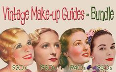 How to do vintage style makeup from original makeup books from the 1920s, 1930s, 1940s, and 1950s.