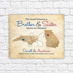 Gift for Brother from Sister Sibling Gifts Long Distance