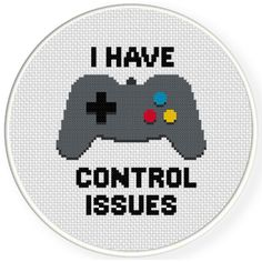 FREE for September 9th 2016 Only - Control Issues Cross Stitch Pattern