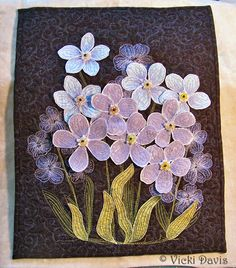 Vicki's Vintage Stitches: Thread-painting and dimensional applique