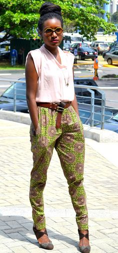 Its African inspired. Love the pants..