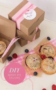 DIY berry pie favors: http://www.stylemepretty.com/2016/01/06/diy-berry-pie-cookie-favors/