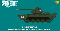 Captain Scarlet Unitron Main Battle Tank by ArthurTwosheds on DeviantArt Battle Tank, Kind Words, Scarlet, Military Vehicles, Maine, Sci Fi, Deviantart, Spectrum, Artist