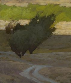 'Palouse Sunrise' by American painter Marc Bohne (b.1955) Oil on panel, 7 x 6 in. via the artist's site
