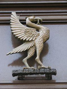 Liver Bird over door at 1 Water Street Liverpool Life, Liverpool Players, Liverpool Fans, Liverpool England, Liverpool Football Club, Fenix Bird, Bird Statues, Beautiful Buildings, Bird Art