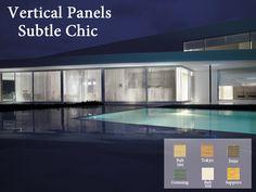 vertical panels, subtle chic