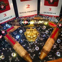 Royal Danish Cigars with 24 karat gold grafitti and Swarovski crystals