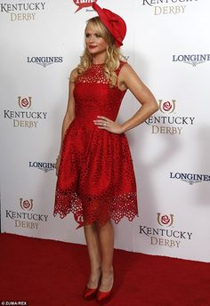 Kentucky Derby red carpet. Loved this dress so much!