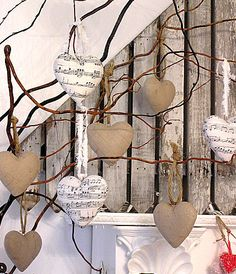 paper mache heart ornament