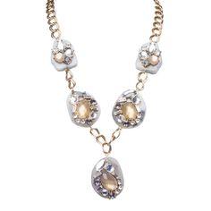 I love the Stein  Blye Jewel Drop Disk Necklace from LittleBlackBag http://lbb.ag/b32a