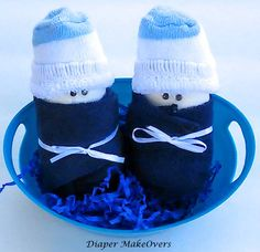 Unique Baby Shower Gift Sets - Diapers Babies - Unique Diaper Cake - Baby Shower Favors - Baby Boy, Baby Girl, Neutral Baby Gifts by DiaperMakeOvers on Etsy