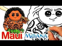 nice How to Draw Maui step by step Chibi - Disney Moana Kawaii Disney, Chibi Disney, Cute Disney Drawings, Disney Princess Drawings, Cute Kawaii Drawings, Disney Princesses, Drawing Disney, Drawing Cartoon Characters, Character Drawing