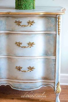 Transforming Furniture with Mouldings Evelyns Dresser Edith Evelyn Vintage Thrift Store Furniture, Refurbished Furniture, Paint Furniture, Repurposed Furniture, Furniture Projects, Furniture Makeover, Cool Furniture, Furniture Design, Furniture Websites