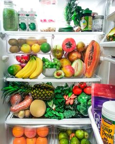 What my fridge will look like when I move out, have my own kitchen and buy my own foood #clean #vegan