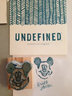 My first hand carved stamp with the Undefined kit from Stampin' Up! (Krista Jensen)