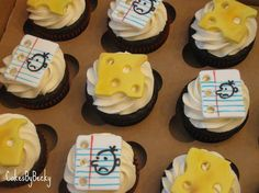 Diary of a Wimpy Kid cupcakes :)