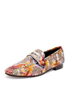 Bougeotte loafers in watercolor painted ring lizard skin. Slip-on style. Leather lining and sole. Black Flats Shoes, Casual Shoes, Men's Shoes, Shoe Boots, Oxford Shoes, Dress Shoes, Shoes Men, Flat Shoes, Mens Slip On Loafers