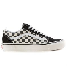 225490a5785 The Vans Classics Old Skool 36 DX Men s Shoes in the (Anaheim Factory)  Black Check Colorway. The Anaheim Factory Old Skool 36 DX pays tribute to  the first ...