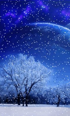 Download Animated 240x400 «Winter moon» Cell Phone Wallpaper. Category: Nature