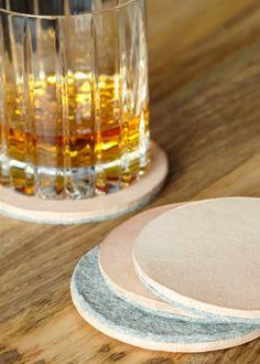 Scarr Leather & Felt Coasters