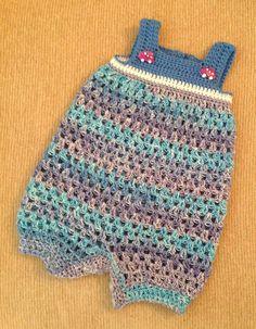 Crochet baby romper free pattern girls newborn boys ideas for 2019 Crochet Onesie, Crochet Bebe, Crochet For Boys, Cute Crochet, Knit Crochet, Knitted Baby Clothes, Crochet Clothes, Baby Patterns, Crochet Patterns