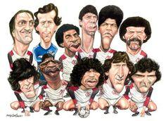 Caricatura dos campeões do mundo.