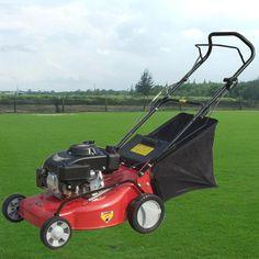 18-inch hand push mower gasoline four-stroke lawn Grass