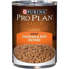 Purina Pro Plan Savor Adult Chicken & Rice Entree Classic Wet Dog Food, 13 Oz.