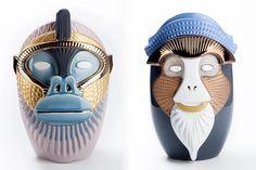 Primates Ceramic Vases for Bosa Ceramiche by Elena Salmistraro