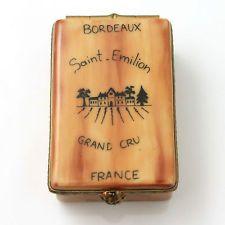 Limoge France Wine Trinket Box