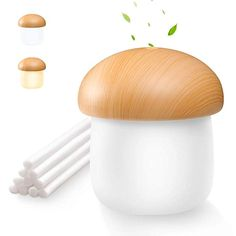 OURRY USB Mini Humidifier, Cool Mist Humidifier Desk Personal Air Mushroom Diffuser with Night Light. in Home & Kitchen in Home & Kitchen > Heating, Cooling & Air Quality > Humidifiers & Vaporizers > Humidifiers Best Essential Oil Diffuser, Best Essential Oils, Vaporizer Humidifier, Cool Mist Humidifier, Novelty Items, Night Light, Mists, Stuffed Mushrooms, Office Yoga